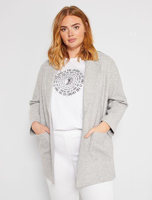 Manteau non doublé                             gris chiné