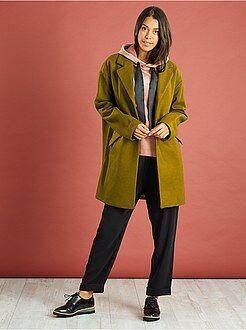 Manteau, bomber taille s - Manteau oversize avec laine