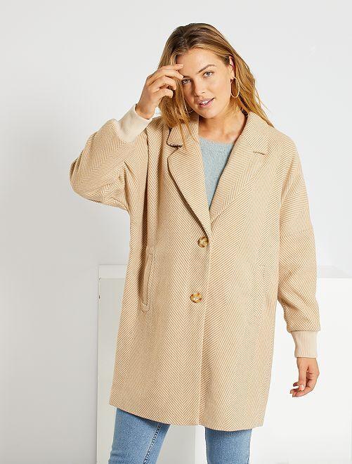 Manteau oversize 'Jacqueline de Yong'                             beige