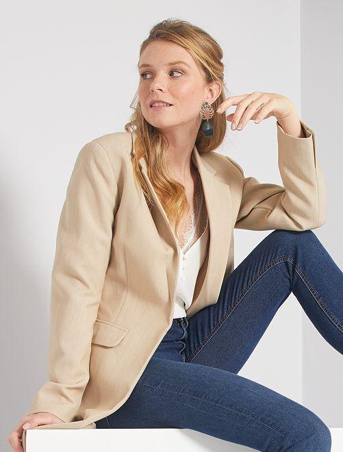 Manteau style blazer                                                                 beige