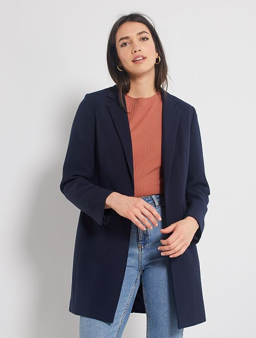 Manteau style blazer                                                                 bleu marine