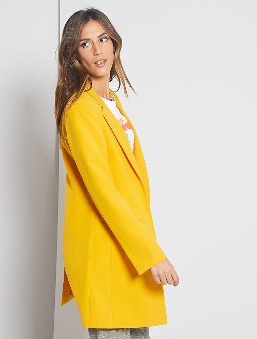 Manteau style blazer                                                                 jaune