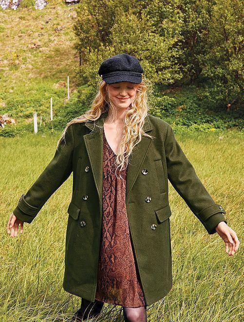 Manteau style caban                                 vert
