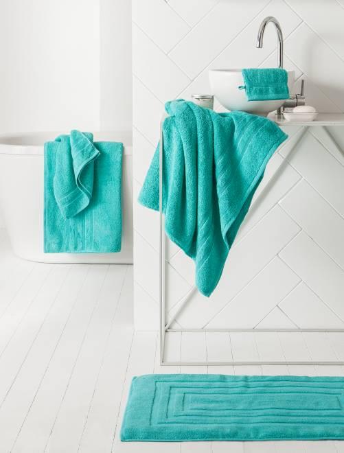 Maxi drap de bain 150 x 90 cm 500gr                                                                                                                                                     menthe Linge de lit