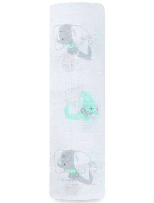 Maxi-lange 107 x 107 cm imprimés 'Ideal Baby'                                                     vert/gris