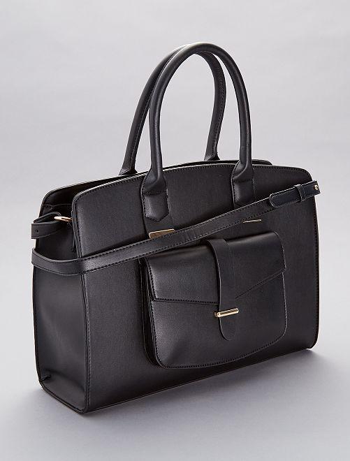 Maxi sac à main en simili                             noir