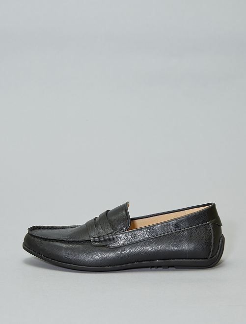 Mocassins en simili                             noir