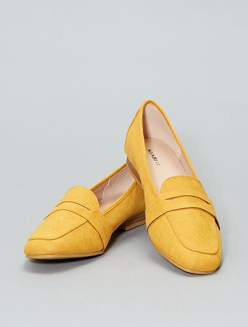 Mocassins en suédine                                                     jaune Femme