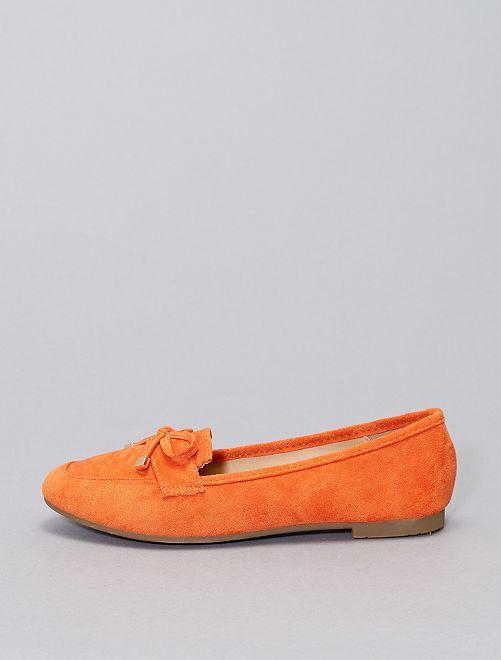Mocassins en suédine                                         orange