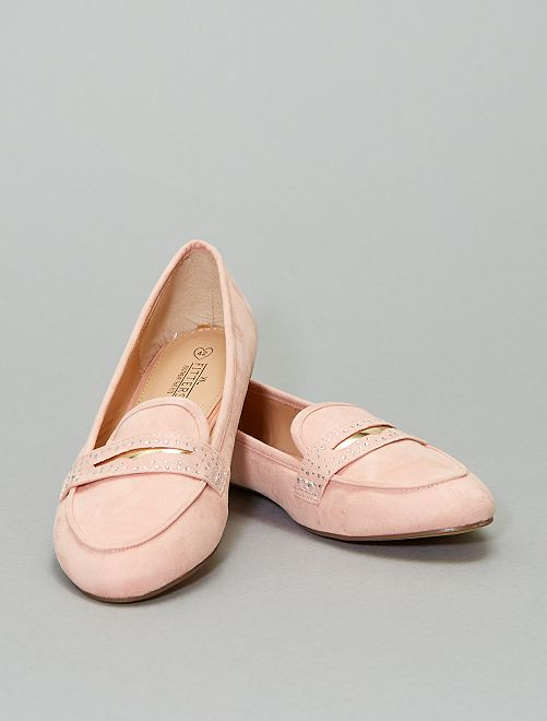 Mocassins en suédine                             rose