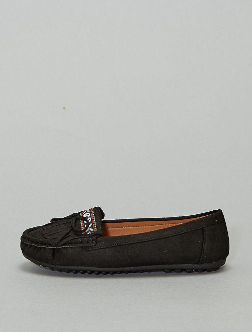 Mocassins style indien                             noir