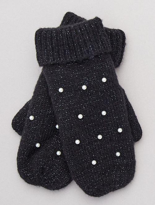 Moufles doublées en polaire                                         noir