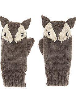 Moufles en maille tricot