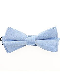 Accessoires - Noeud papillon effet chambray