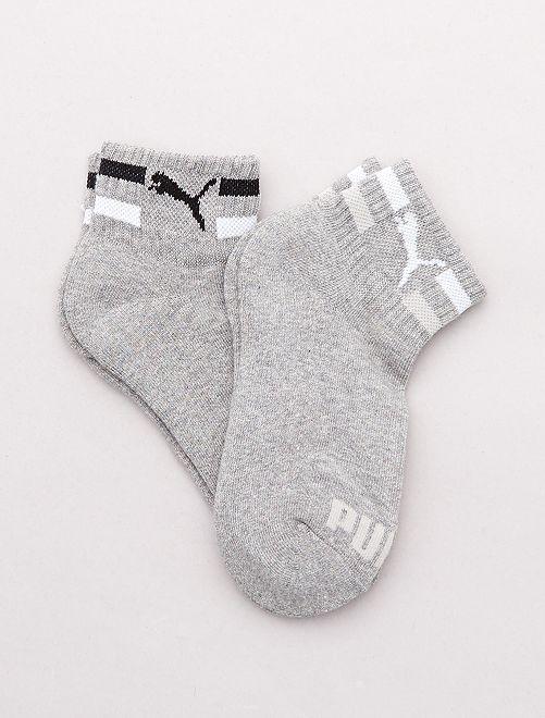 Paire de 2 chaussettes basses 'Puma'                     gris