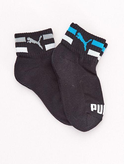 Paire de 2 chaussettes basses 'Puma'                                         noir