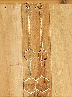 Bijoux - Paire de boucles d'oreilles pendantes - Kiabi