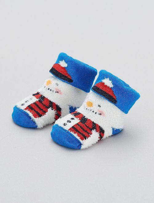 Paire de chaussettes de Noël                                         blanc