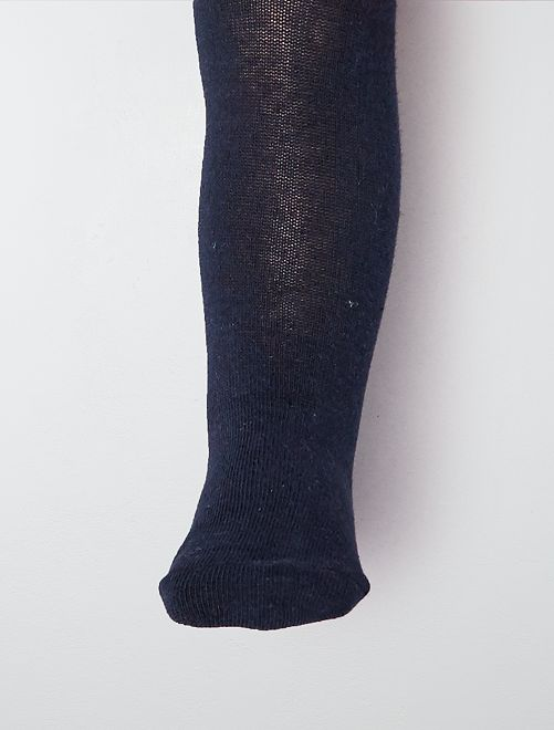 Paire de collants                                                                                                     bleu marine Bébé fille