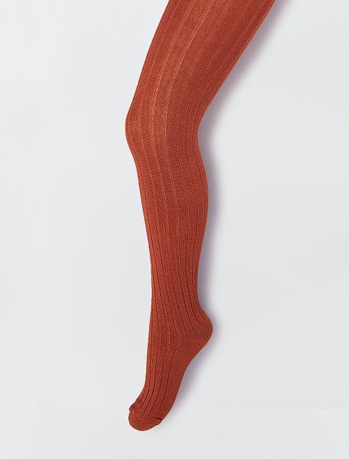 Paire de collants épais                                                     rouge brique