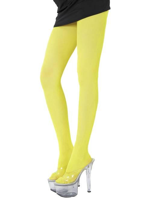Paire de collants fluo 70D                                                                             jaune fluo