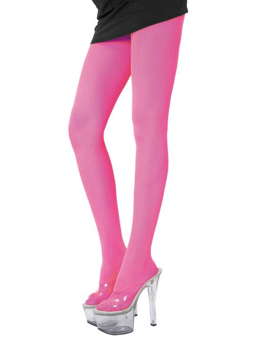 Paire de collants fluo 70D                                                                             rose fluo