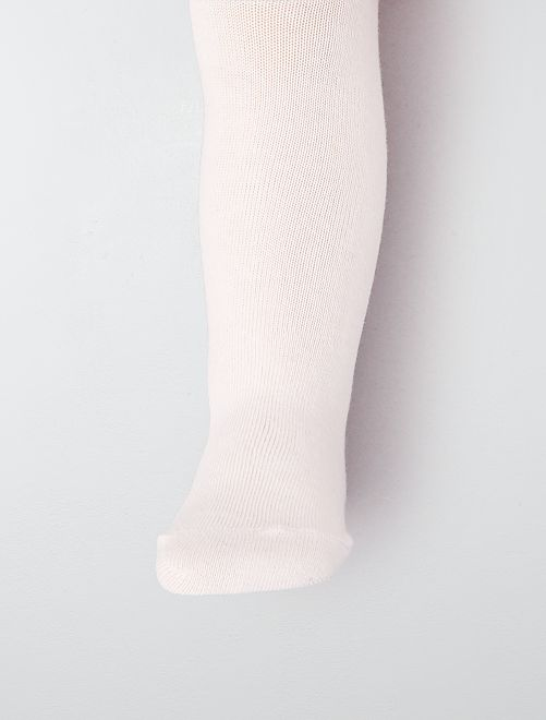 Paire de collants                                                                                                     rose pastel
