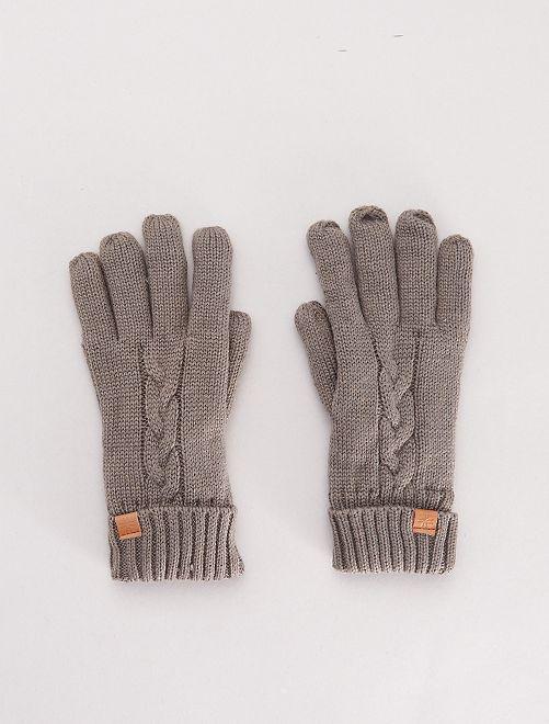 Paire de gants doublés polaire                             gris