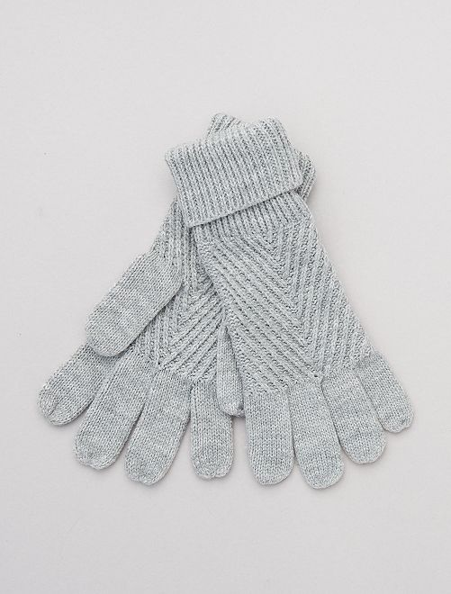 Paire de gants en maille                                         gris