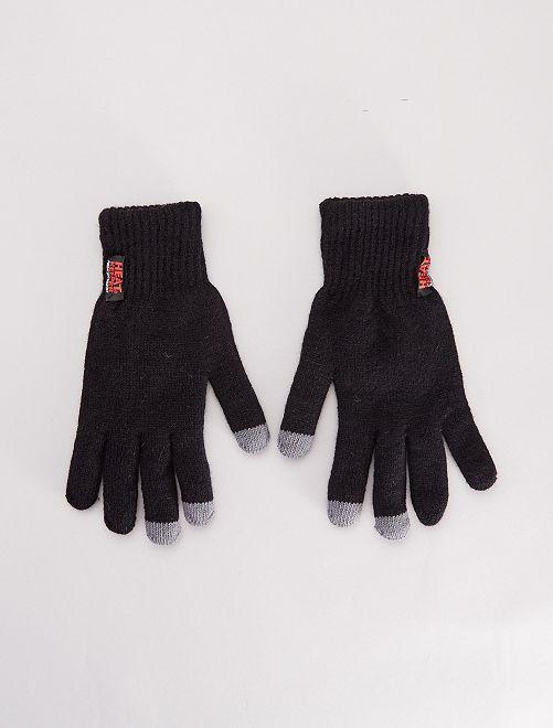 Paire de gants grand froid tactiles                             noir