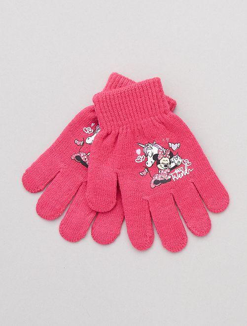 Paire de gants 'Minnie'                                                                 fuchsia