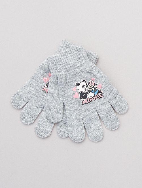 Paire de gants 'Minnie'                                                                 gris