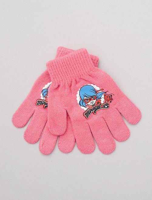 Paire de gants 'Miraculous'                                                                 rose