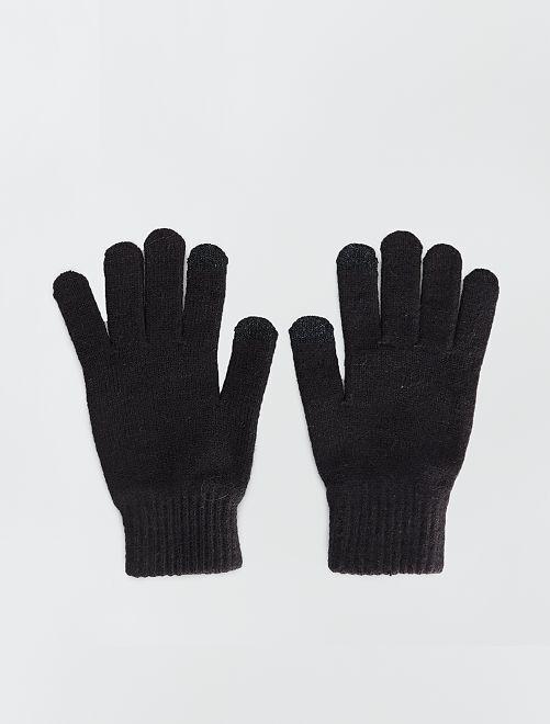 Paire de gants tactiles                             noir