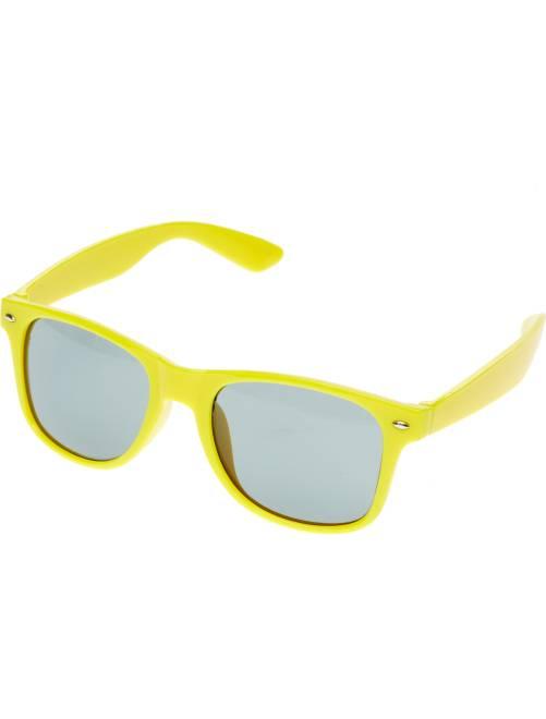 Paire de lunettes carrées                                                                                                                  jaune