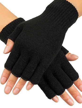 Paire de mitaines en tricot