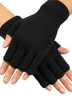 Echarpe, gants, bonnet - Paire de mitaines en tricot - Kiabi