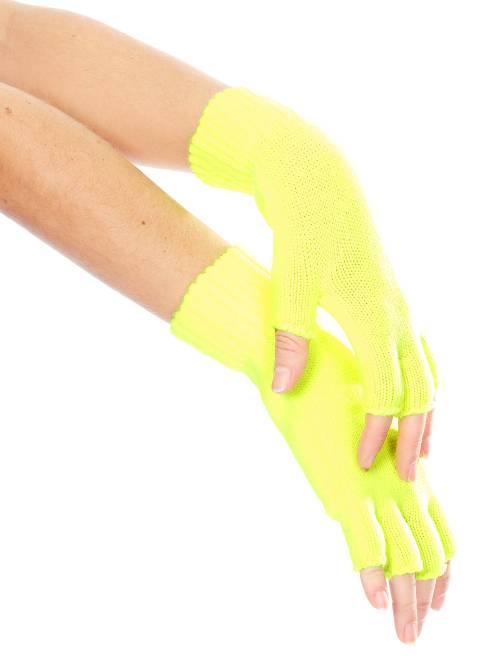 Paire de mitaines résille fluo                                                     jaune
