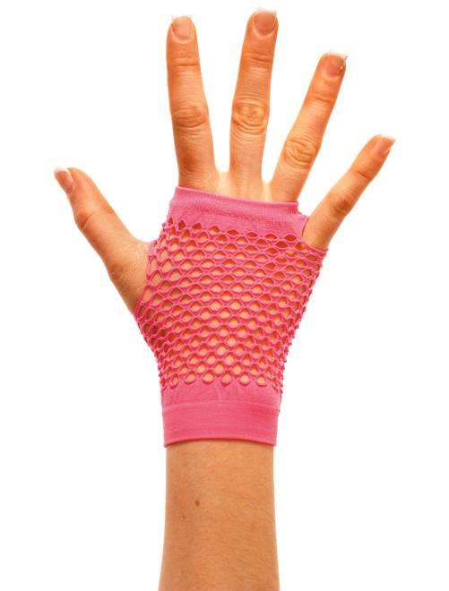 Paire de mitaines résille                                                                              rose fluo Accessoires