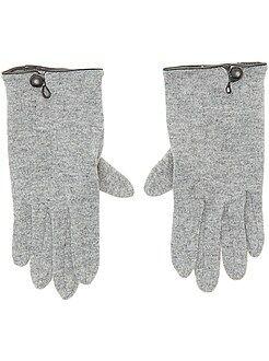Echarpe, gants, bonnet - Paires de gants unis - Kiabi