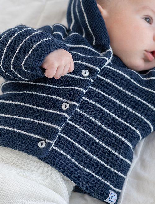 Paletot en tricot 'La Manufacture de Layette'                                         bleu
