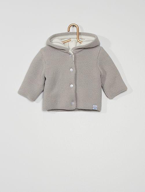 Paletot en tricot 'La Manufacture de Layette'                                         gris