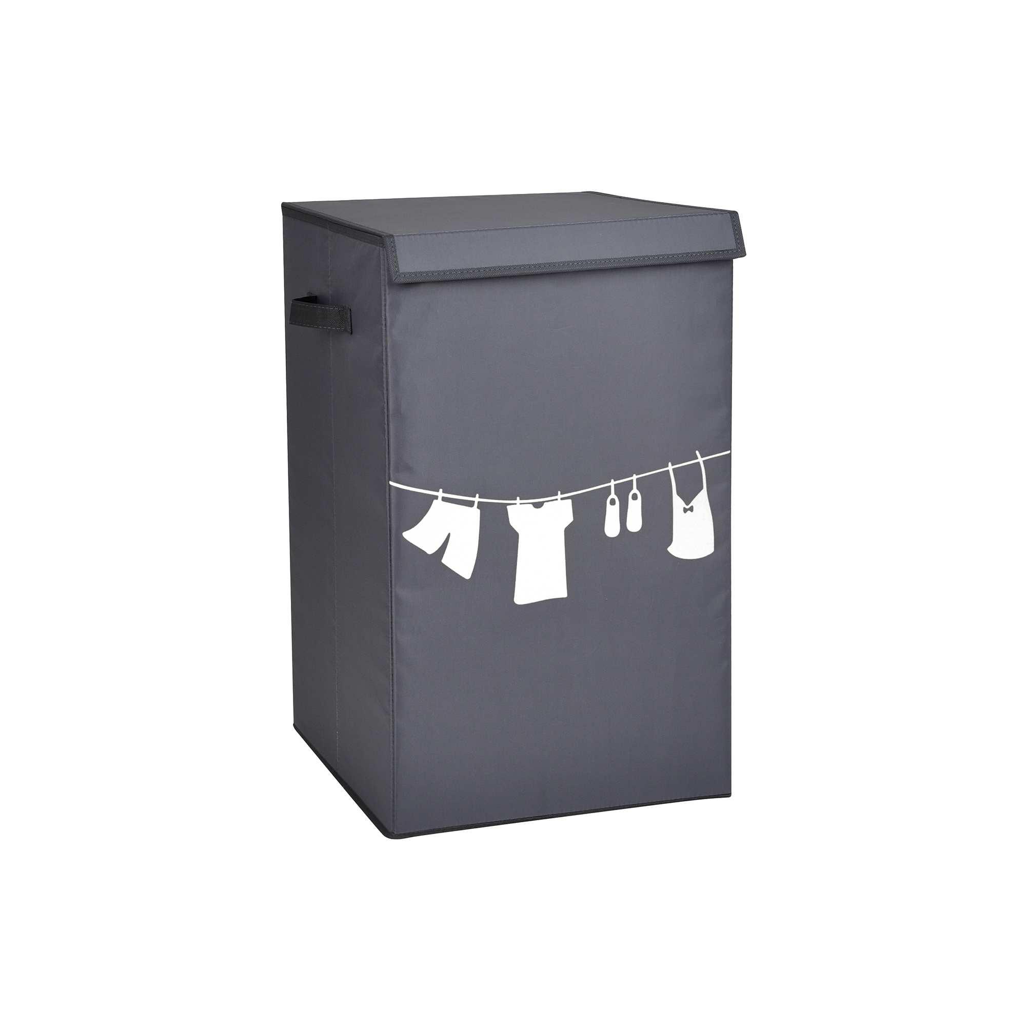 panier linge tissu imprim linge de lit kiabi 12 00. Black Bedroom Furniture Sets. Home Design Ideas