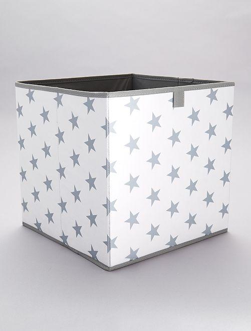 Panier de rangement 'étoiles'                             bleu