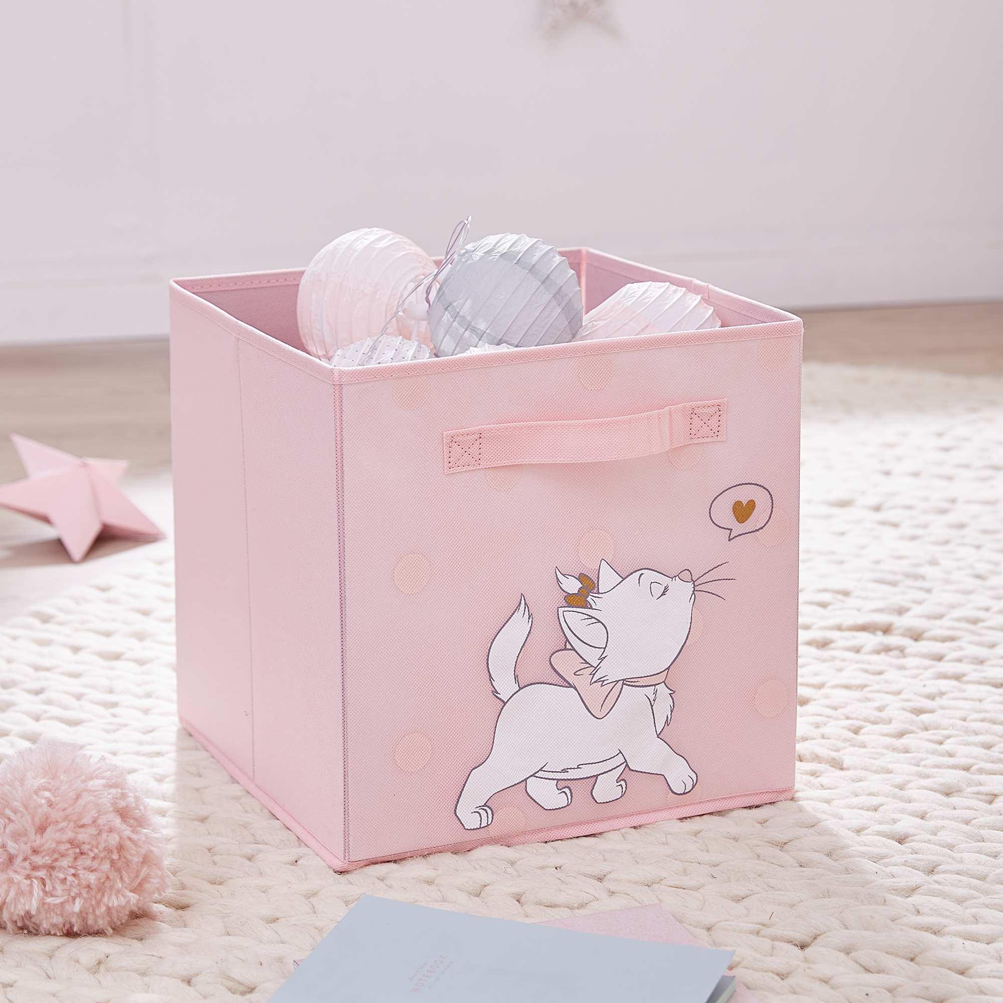 Panier de rangement 'Marie' des 'Aristochats' Bébé fille - rose - Kiabi - 7,00€