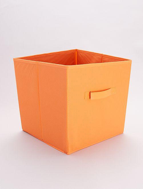 Panier pliable intissé                                                                                                                                                     orange Linge de lit
