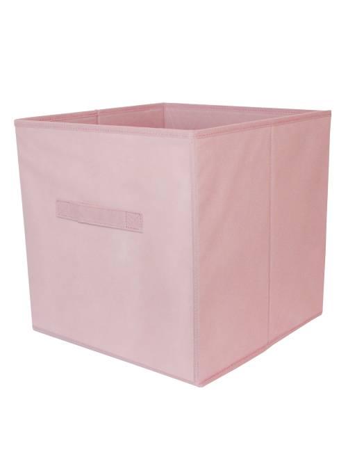 Panier pliable intissé                                                                                                                                                     rose pâle Linge de lit