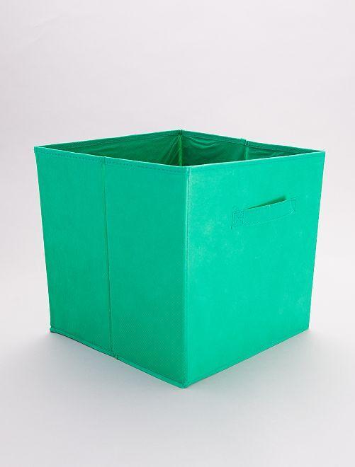 Panier pliable intissé                                                                                                                                         vert emeraude