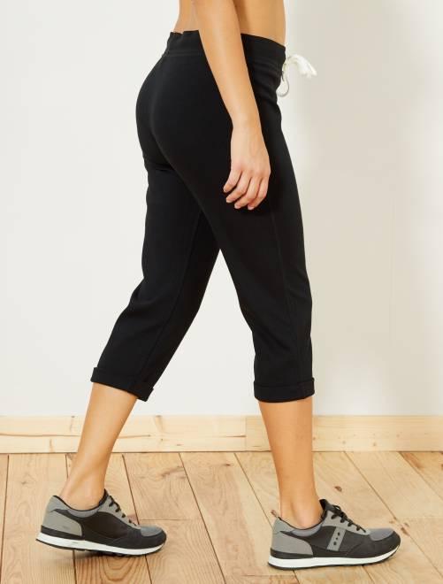 Pantacourt de sport stretch                                                                 noir Femme