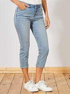 Pantacourt en jean avec boutons - Kiabi